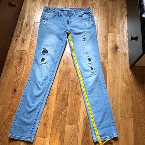Aeropostale Bayla skinny distressed jeans size 4